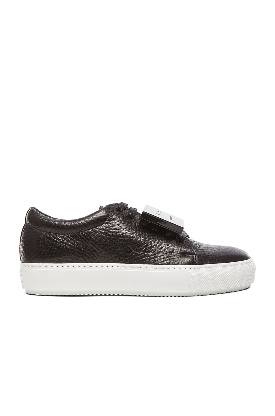 Image 1 of Acne Studios Adriana Leather Sneakers in Black