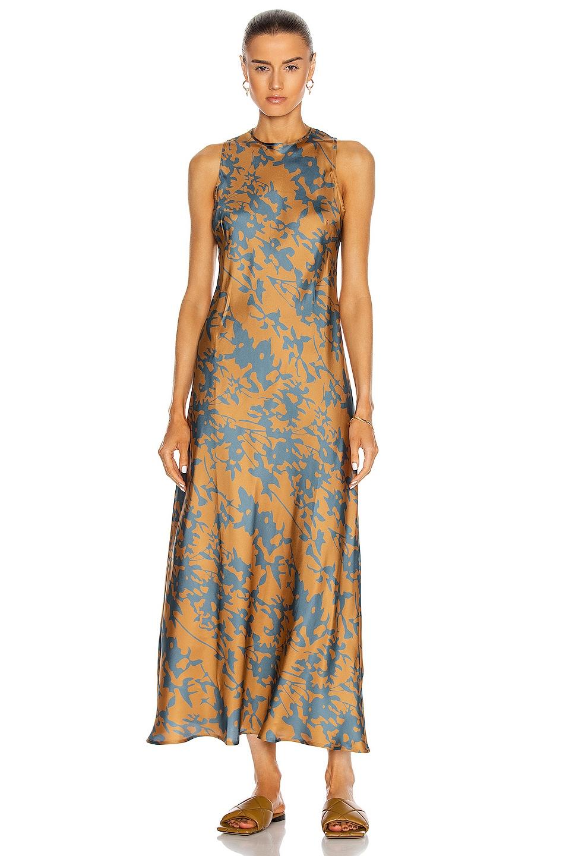 Image 1 of ASCENO The Valencia Dress in Caramel Leaf