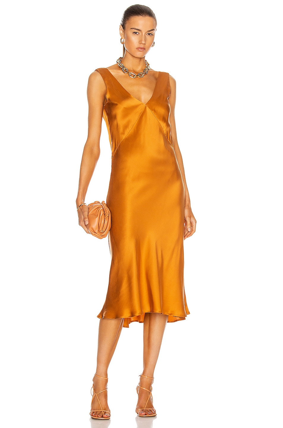 Image 1 of ASCENO The Bordeaux Dress in Caramel
