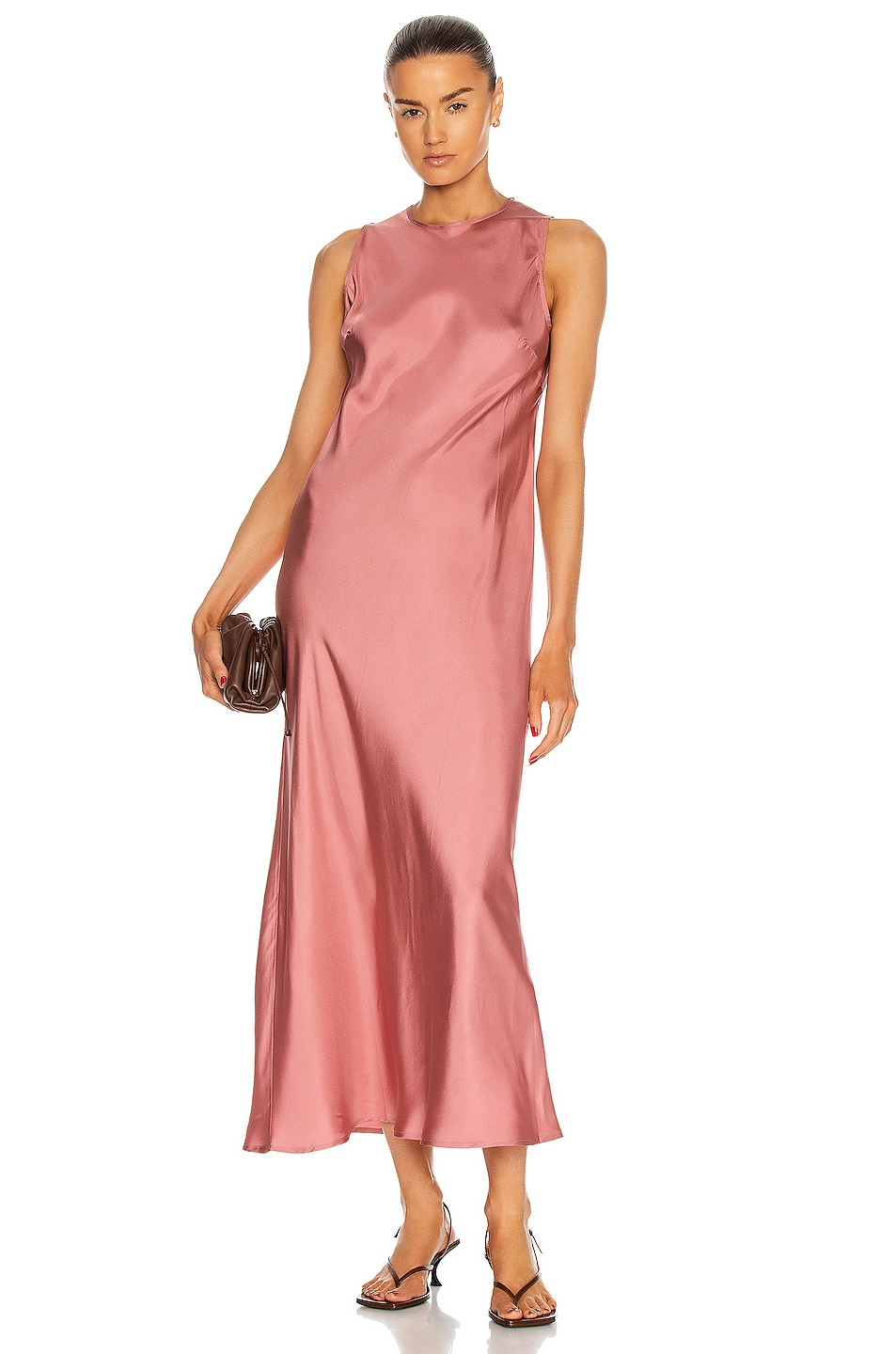 Image 1 of ASCENO The Valencia Dress in Dusty Rose