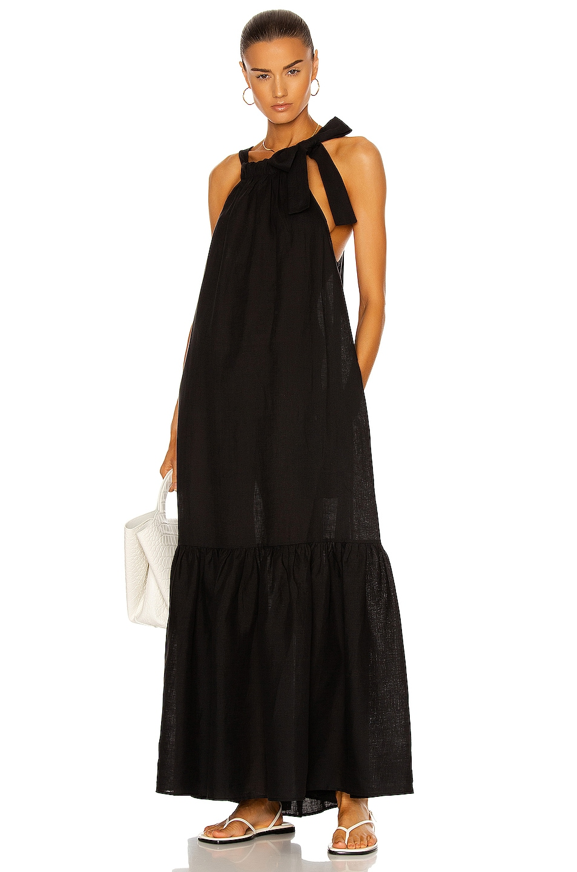 Image 1 of ASCENO The Ibiza Dress in Black