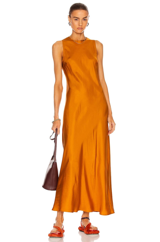 Image 1 of ASCENO The Valencia Dress in Rust