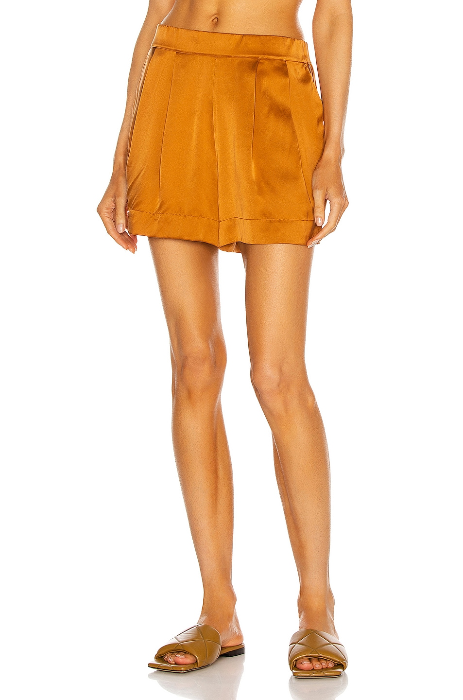 Image 1 of ASCENO The Zurich Short in Caramel