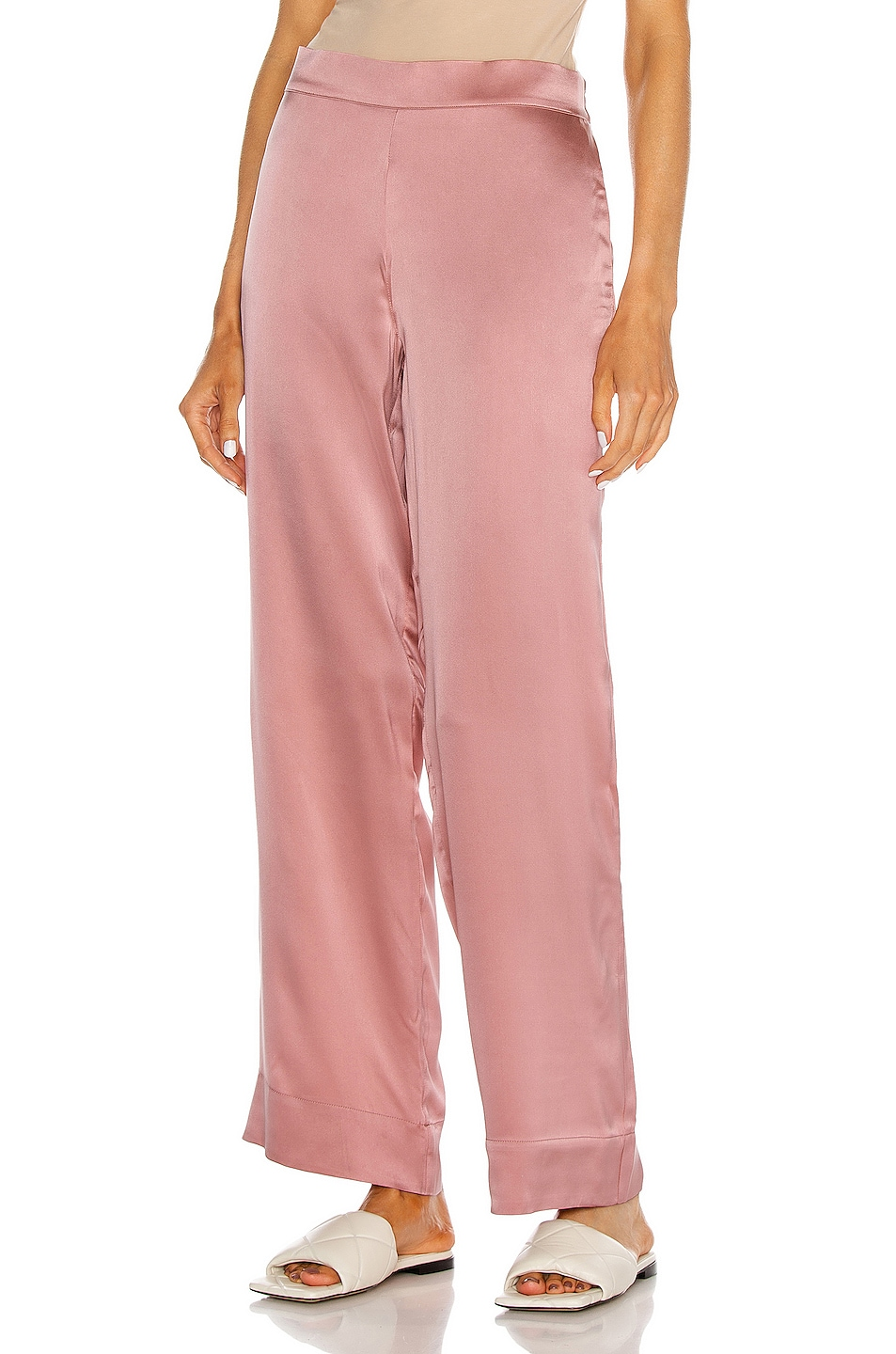 Image 1 of ASCENO The London PJ Bottom in Dusty Rose