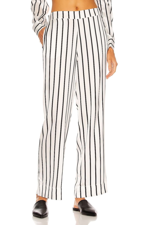 Image 1 of ASCENO The London PJ Bottom in Black Stripe