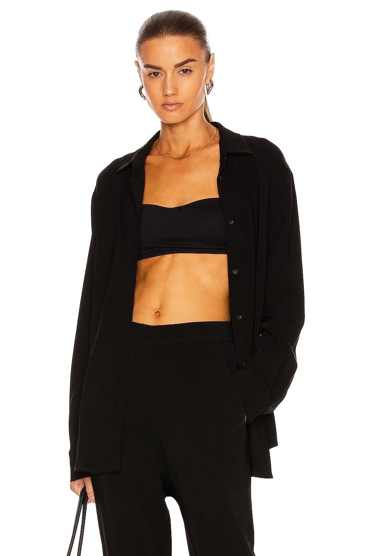 Image 1 of ASCENO The Milan Sleep Shirt in Black