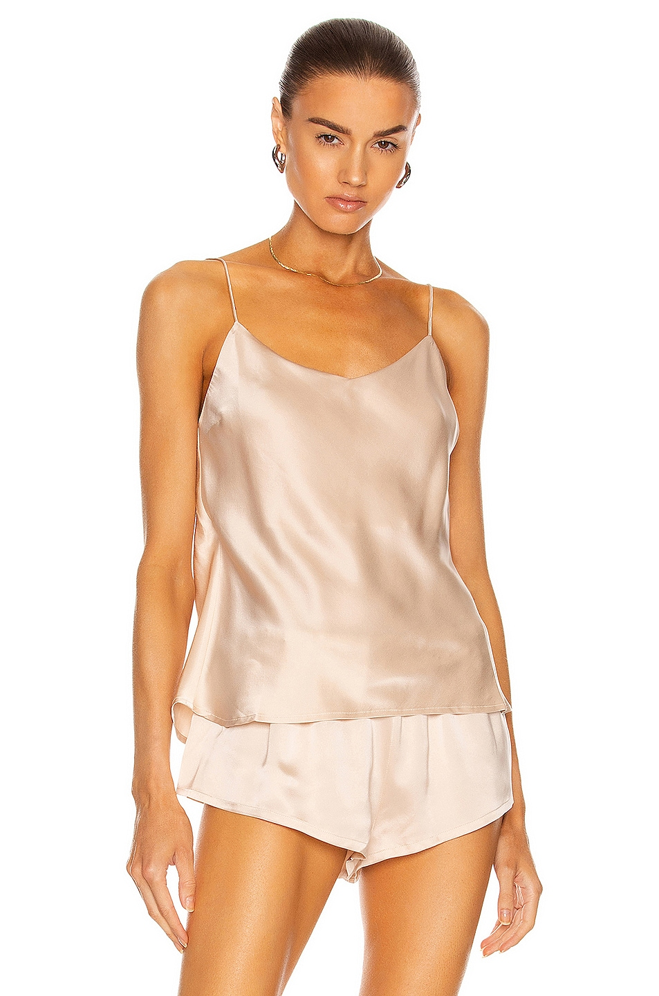 Image 1 of ASCENO The Milos Cami Top in Sand