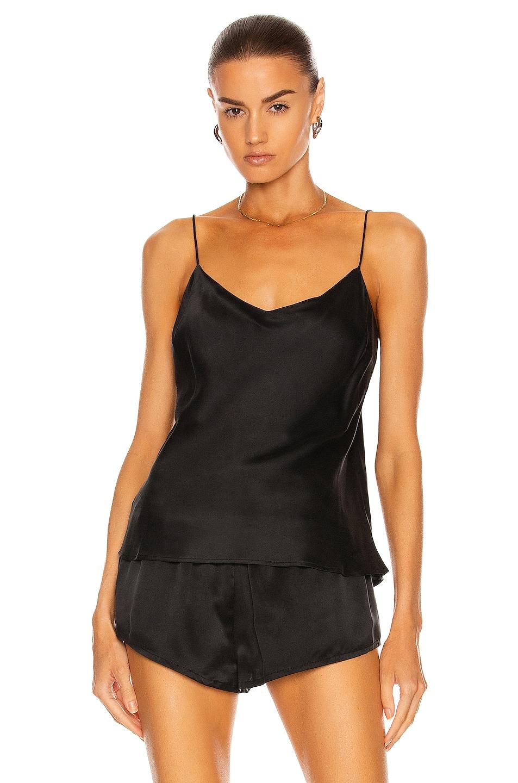 Image 1 of ASCENO The Milos Cami Top in Black