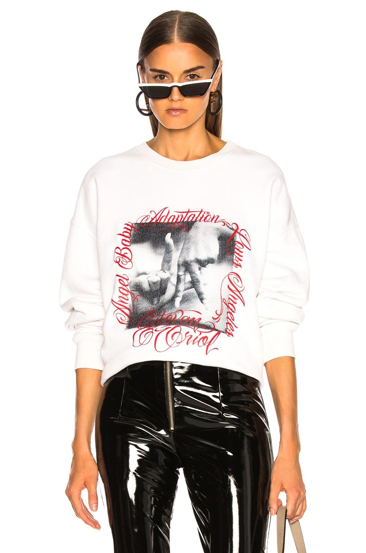 Image 1 of Adaptation Angel Baby LA Sweatshirt in Flat White