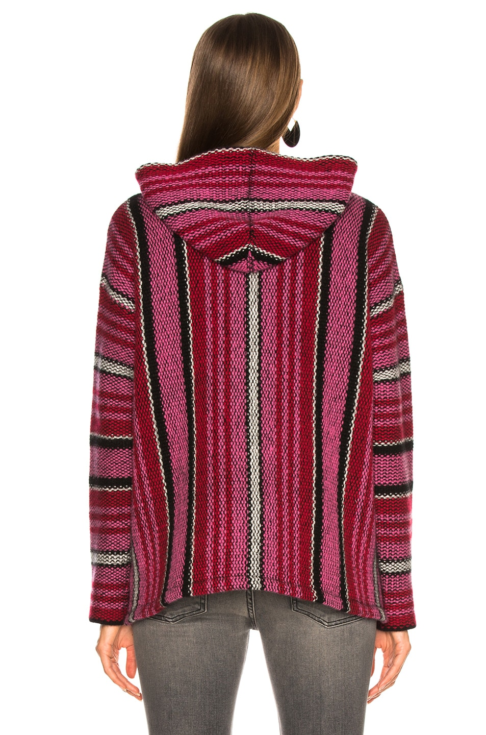 Image 3 of Adaptation Cashmere Baja Hoodie in Candy Stripe