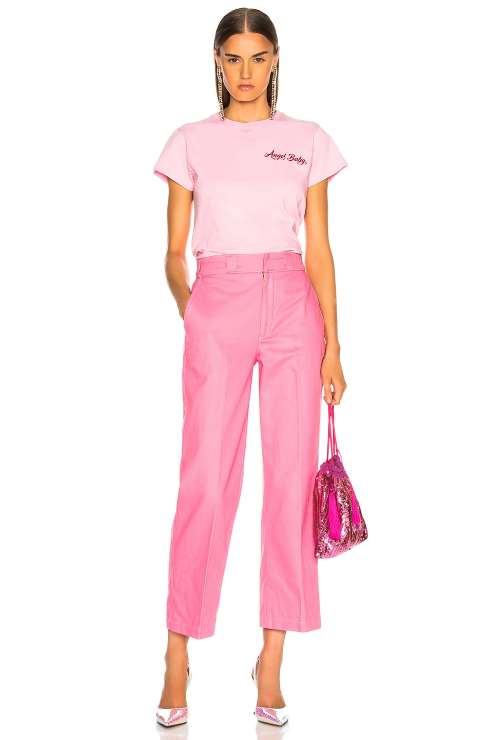 Image 4 of Adaptation Chino Pant in Candy Pink
