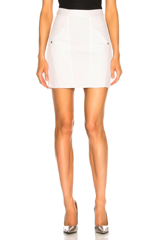 Image 1 of Adaptation Paneled Skirt in Flat White