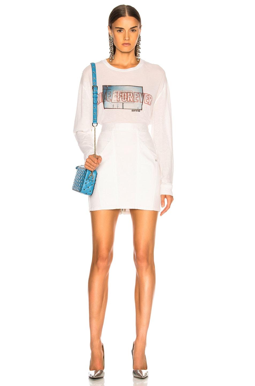 Image 4 of Adaptation Paneled Skirt in Flat White