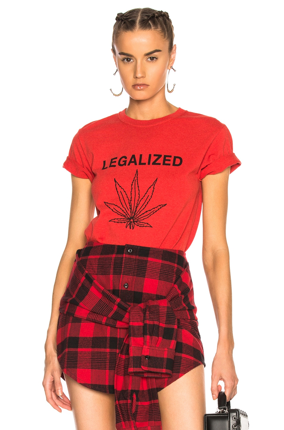 Image 1 of Adaptation Legalized Vintage Tee in Red