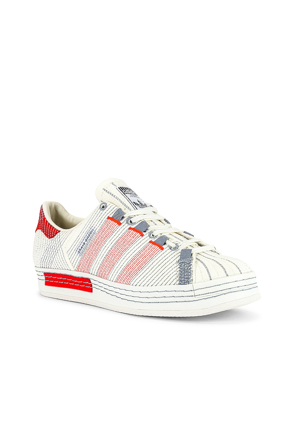 Image 1 of adidas by Craig Green Superstar Sneaker in Off White & Bright Red & Grey Three F17