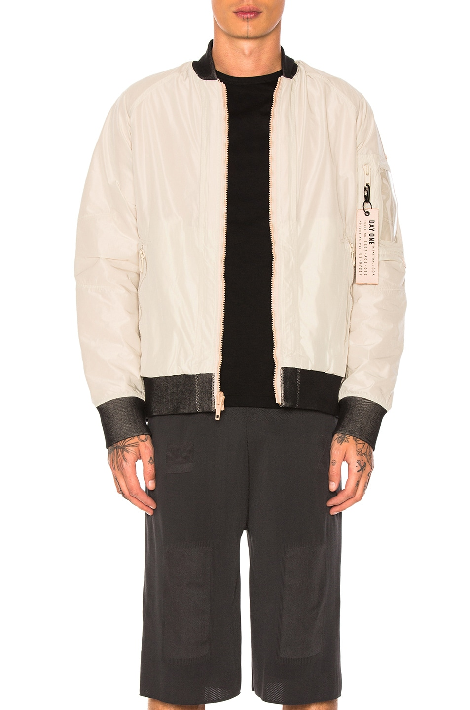 Image 1 of adidas Day One Reversible Bomber in Clear Brown & Dust Pearl