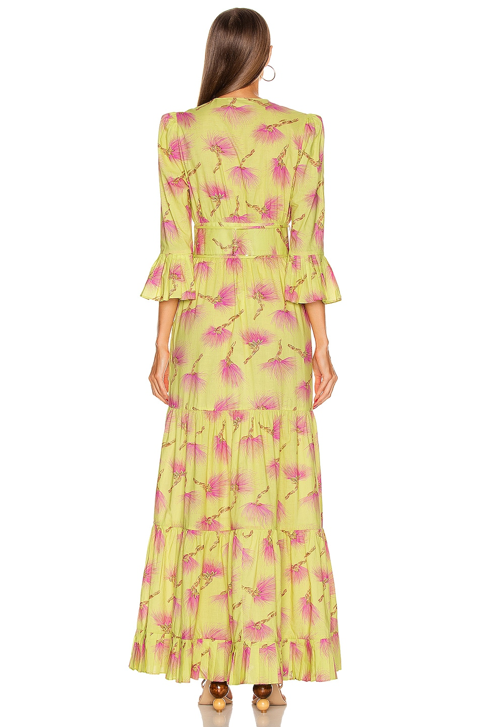 Image 3 of ADRIANA DEGREAS Wild Flower Long Dress in Yellow