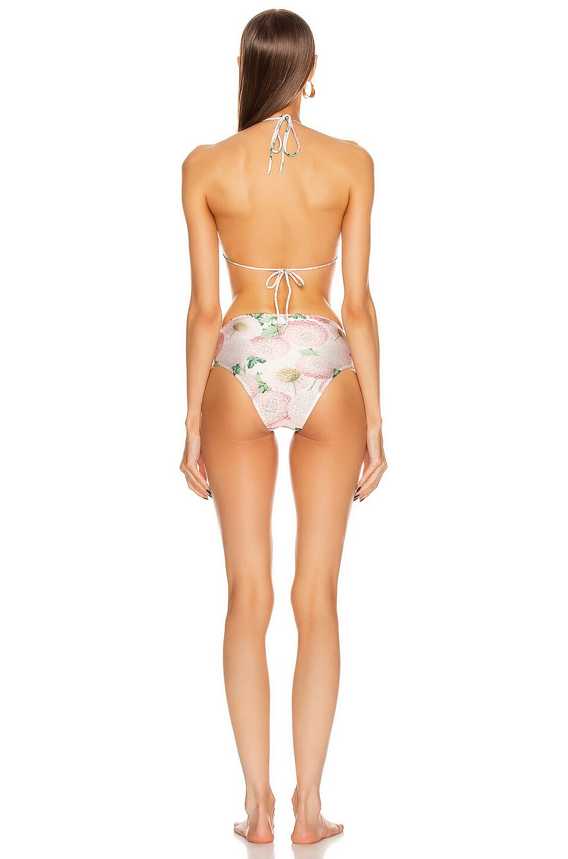 Image 3 of ADRIANA DEGREAS Dahlia High Leg Bikini With Knot in Off White