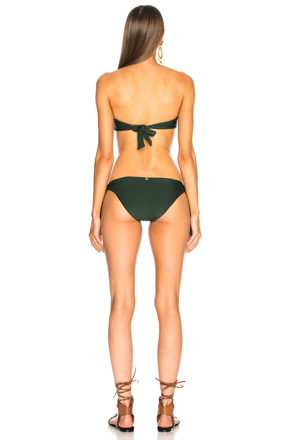 Image 3 of ADRIANA DEGREAS Strapless Swimsuit With Tulle in Green