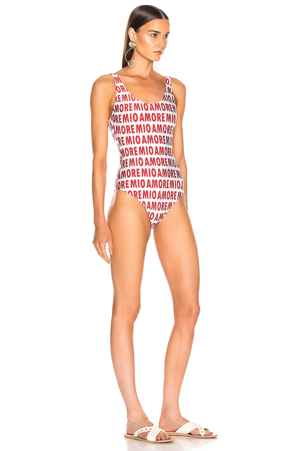 Image 2 of ADRIANA DEGREAS Amore Mio Basic Swimsuit in Off White