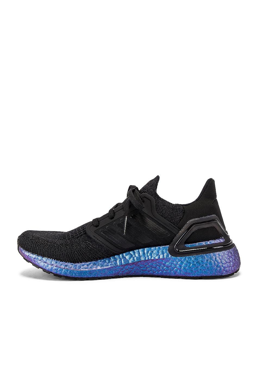 Image 5 of adidas Originals Ultraboost 20 in Core Black & Core Black & Boost Blue Violet Met