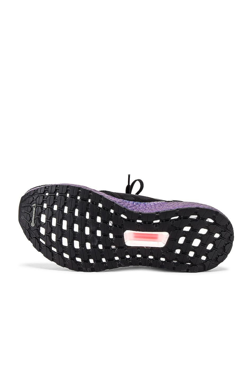 Image 6 of adidas Originals Ultraboost 20 in Core Black & Core Black & Boost Blue Violet Met