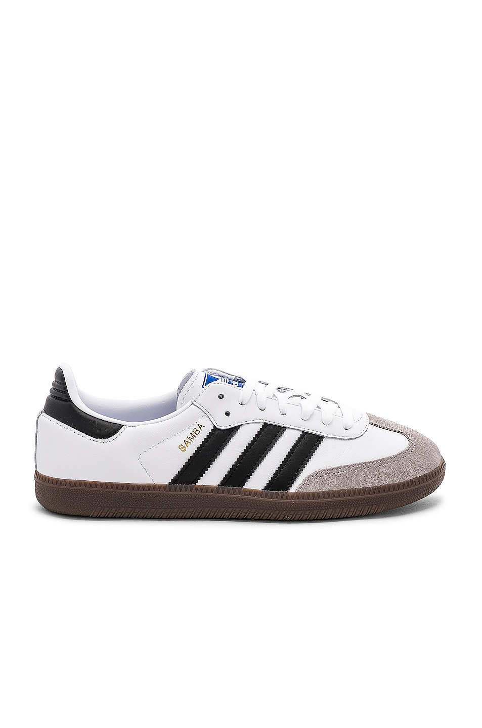 Image 1 of adidas Originals Samba in White & Black & Clear Granite