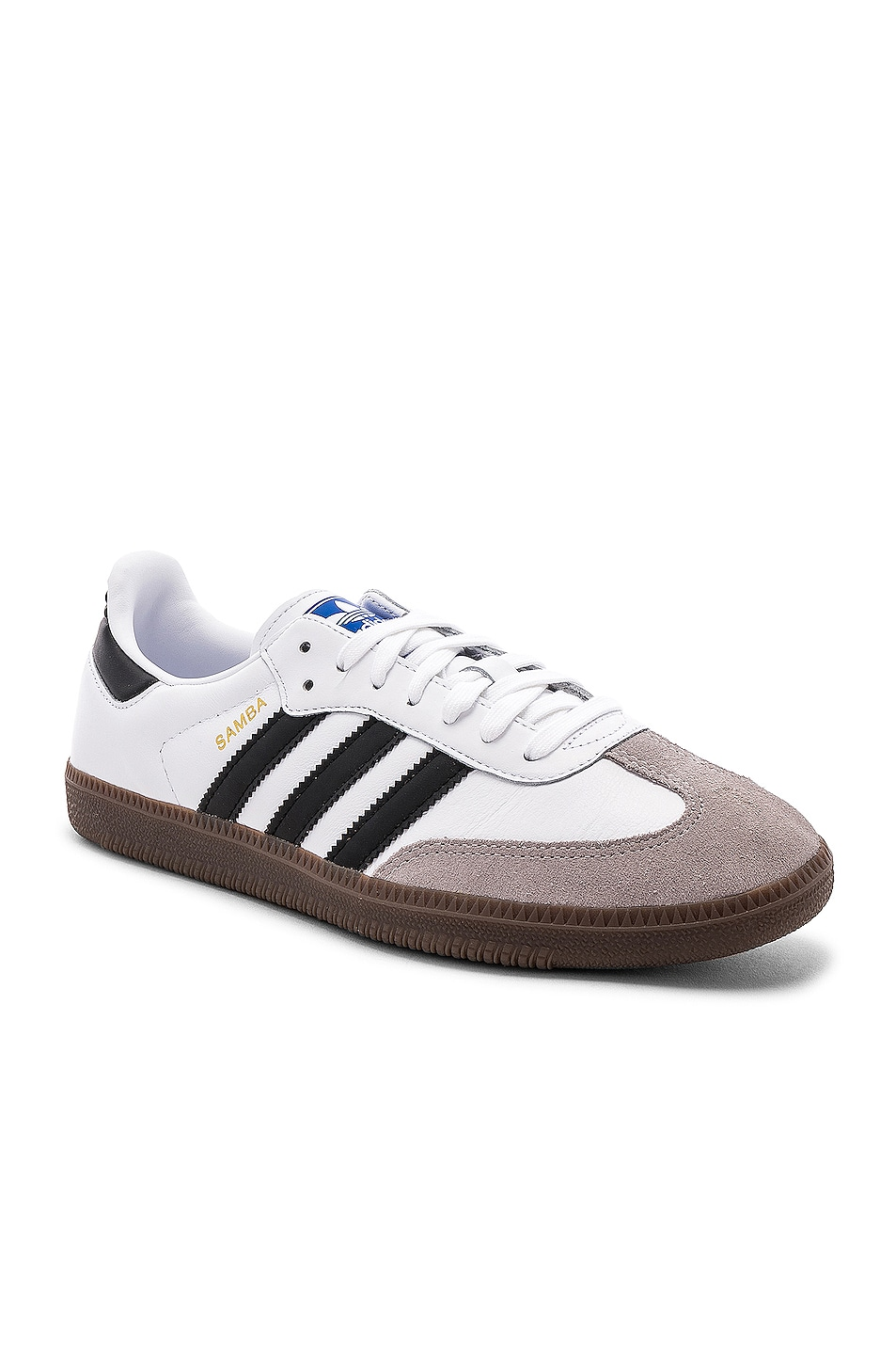 Image 2 of adidas Originals Samba in White & Black & Clear Granite