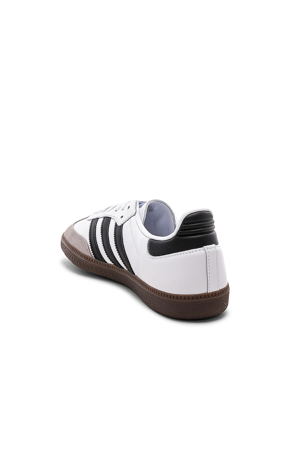 Image 3 of adidas Originals Samba in White & Black & Clear Granite