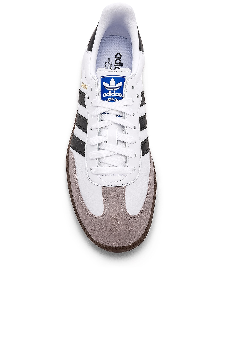 Image 4 of adidas Originals Samba in White & Black & Clear Granite