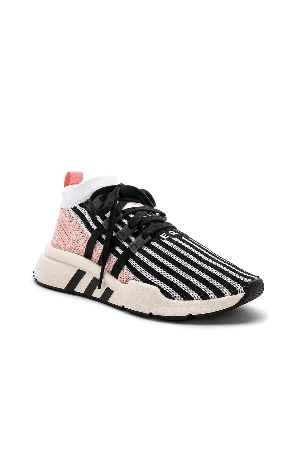Image 2 of adidas Originals EQT Support Mid in White & Black & Trace Pink