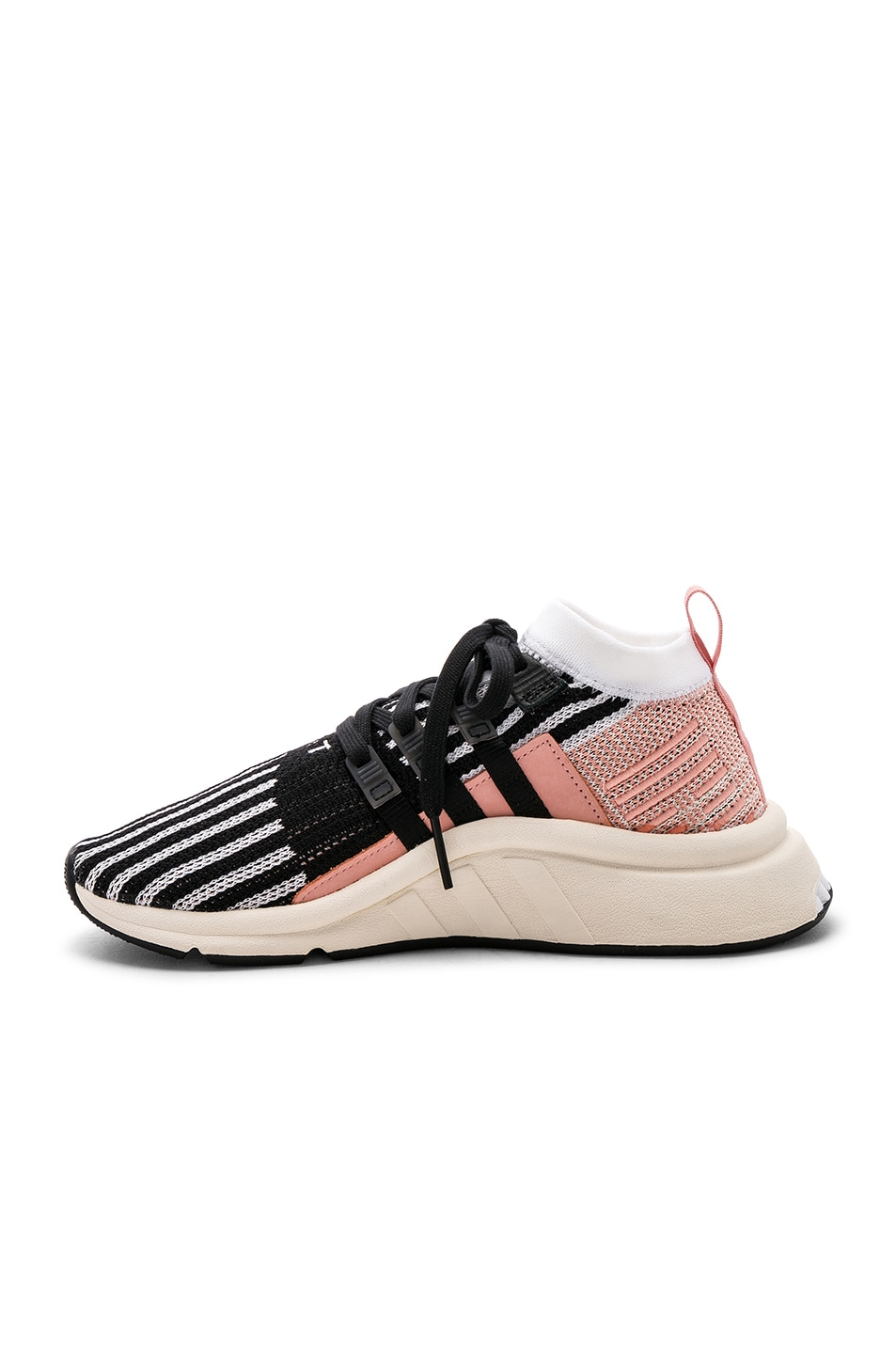 Image 5 of adidas Originals EQT Support Mid in White & Black & Trace Pink