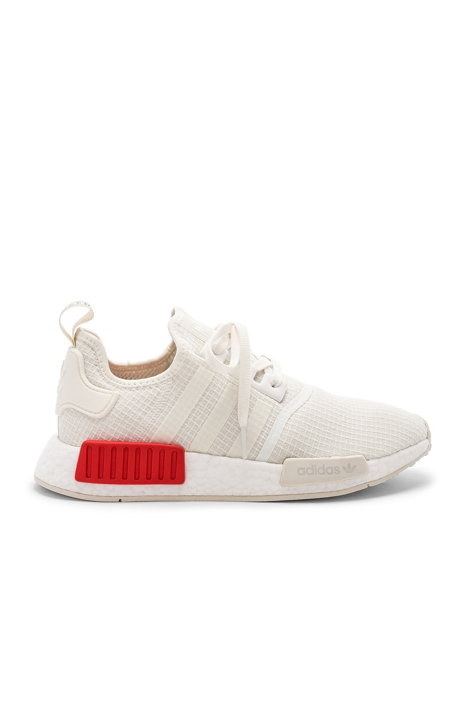 Image 1 of adidas Originals NMD R1 in Off White & Off White & Lush Red