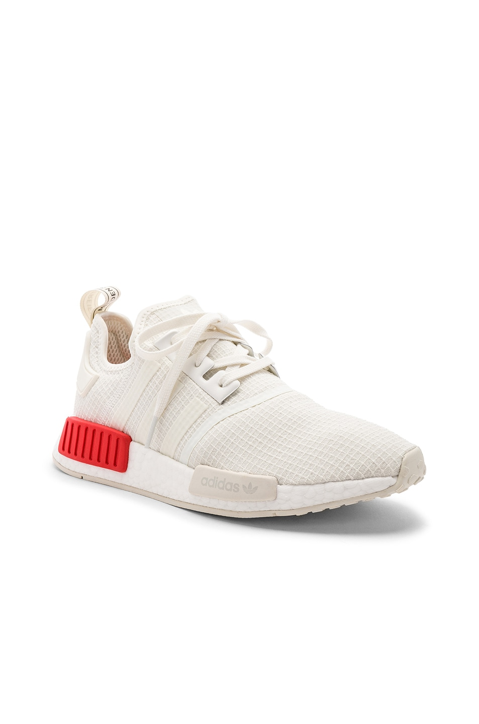 Image 2 of adidas Originals NMD R1 in Off White & Off White & Lush Red