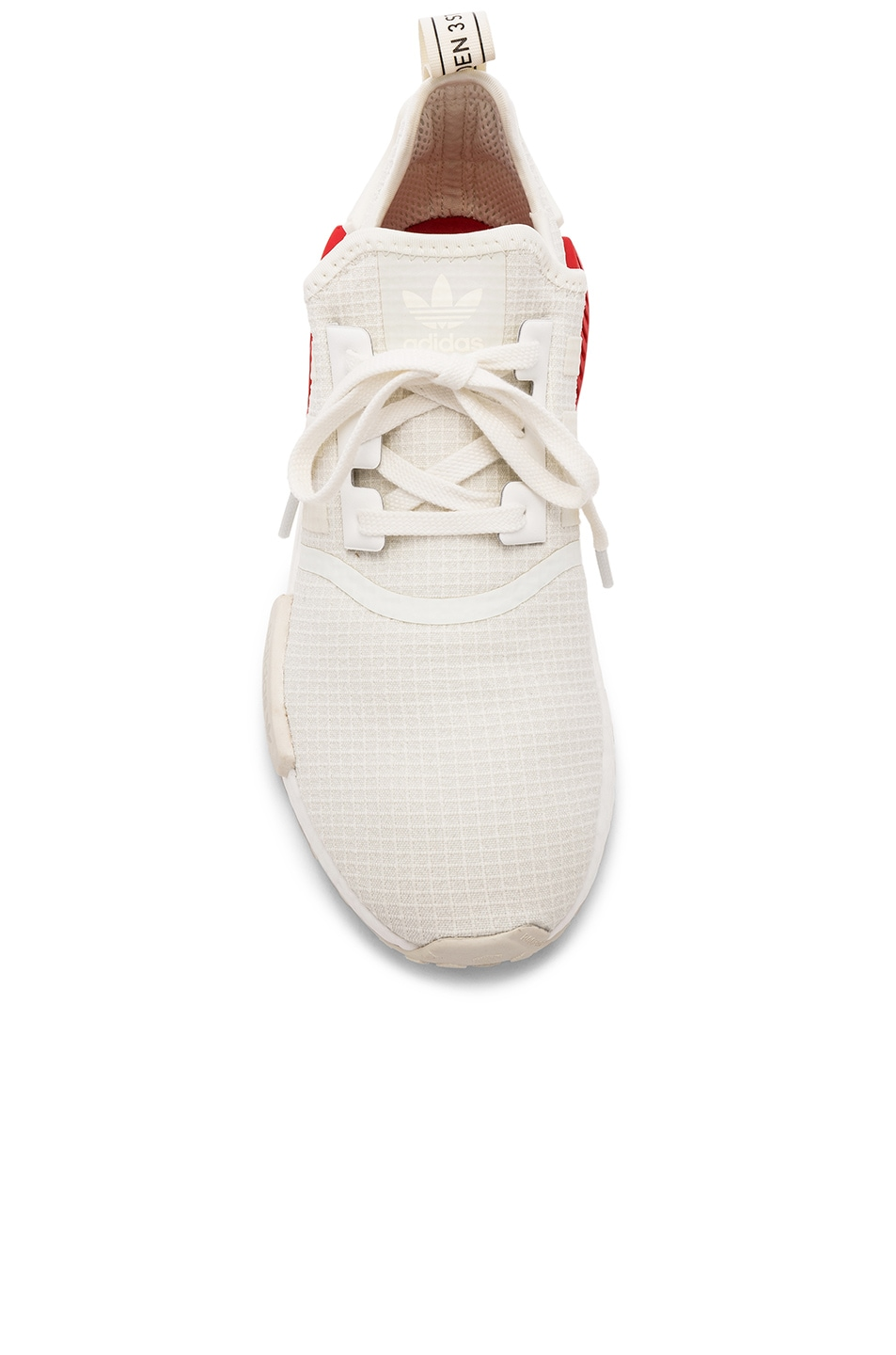 Image 4 of adidas Originals NMD R1 in Off White & Off White & Lush Red