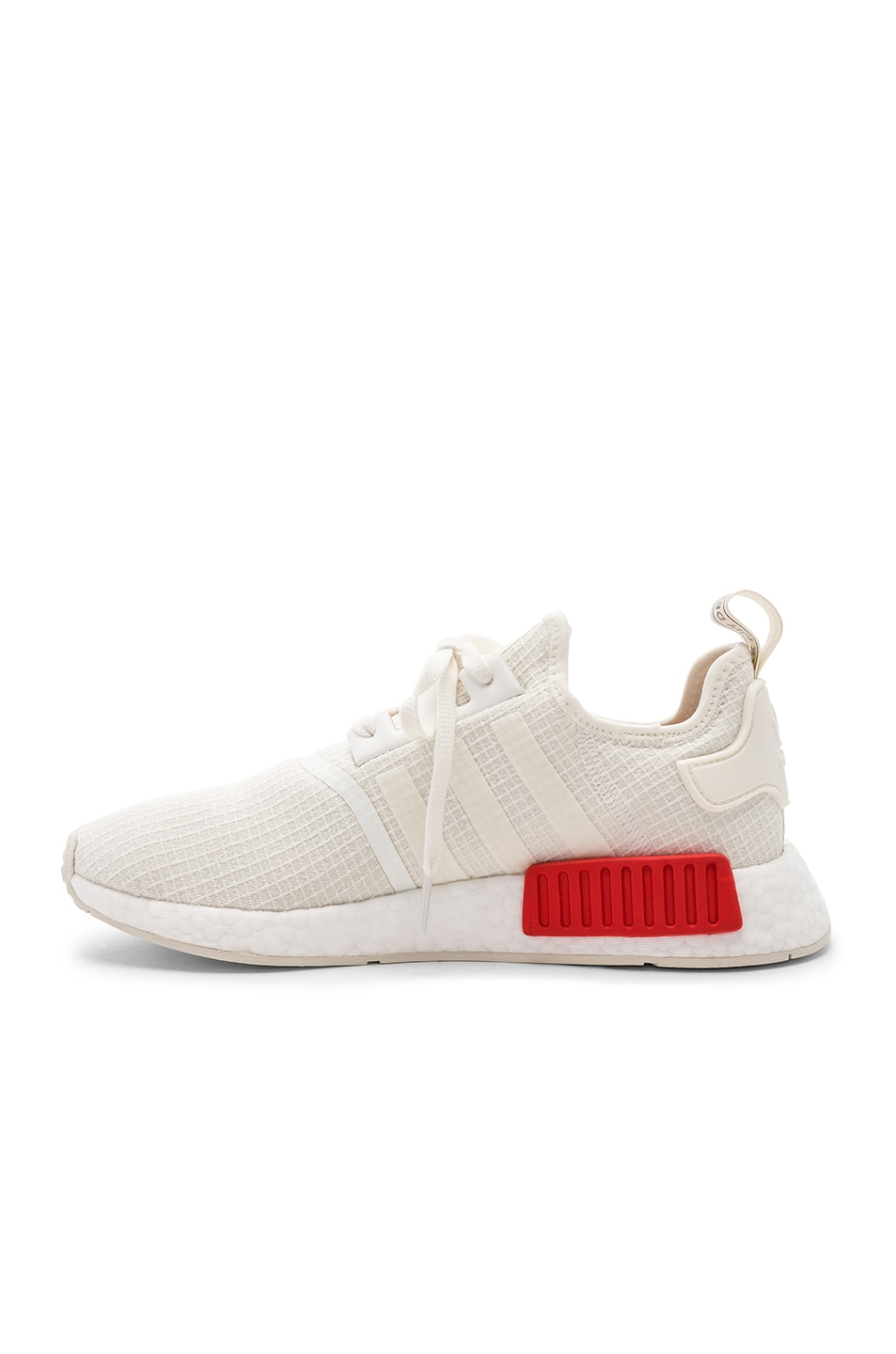 Image 5 of adidas Originals NMD R1 in Off White & Off White & Lush Red