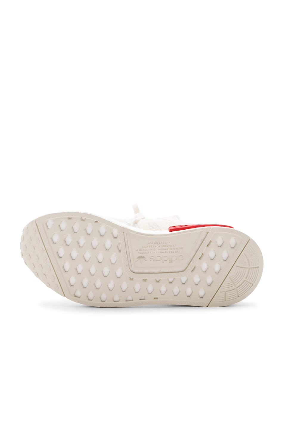 Image 6 of adidas Originals NMD R1 in Off White & Off White & Lush Red