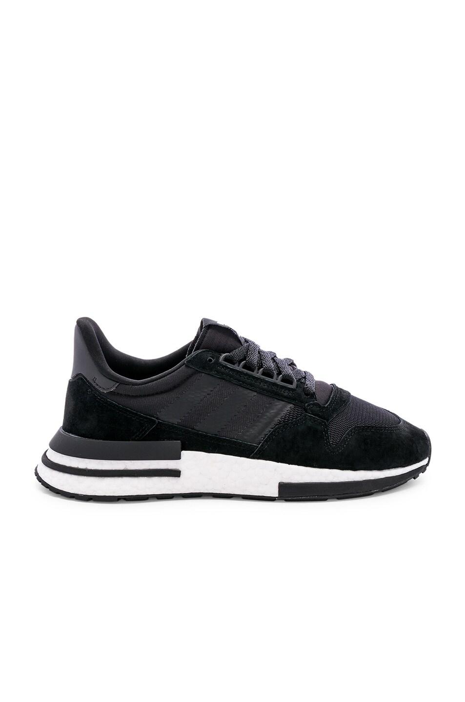 Image 1 of adidas Originals ZX 500 RM in Black & White & Black