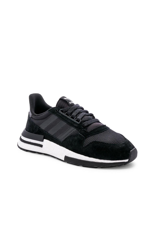 Image 2 of adidas Originals ZX 500 RM in Black & White & Black