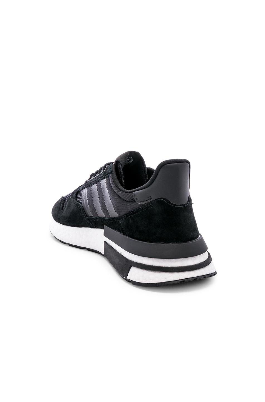 Image 3 of adidas Originals ZX 500 RM in Black & White & Black