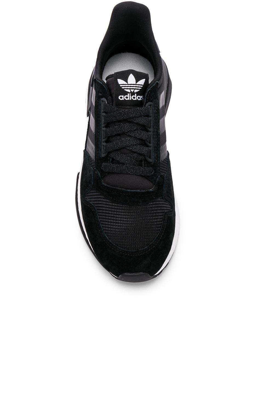 Image 4 of adidas Originals ZX 500 RM in Black & White & Black