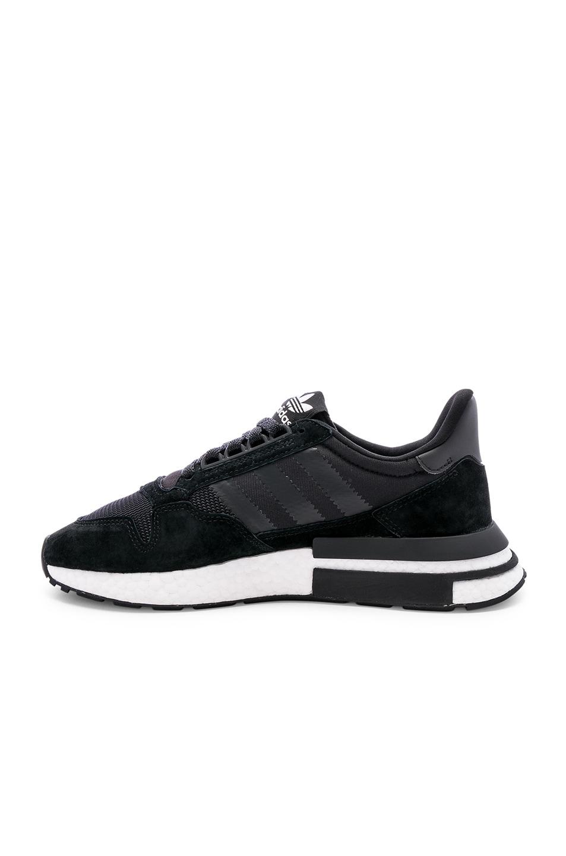 Image 5 of adidas Originals ZX 500 RM in Black & White & Black