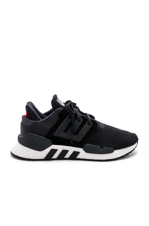 buy popular 34522 f4944 Image 1 of adidas Originals EQT Support 9118 in Black  Black  White