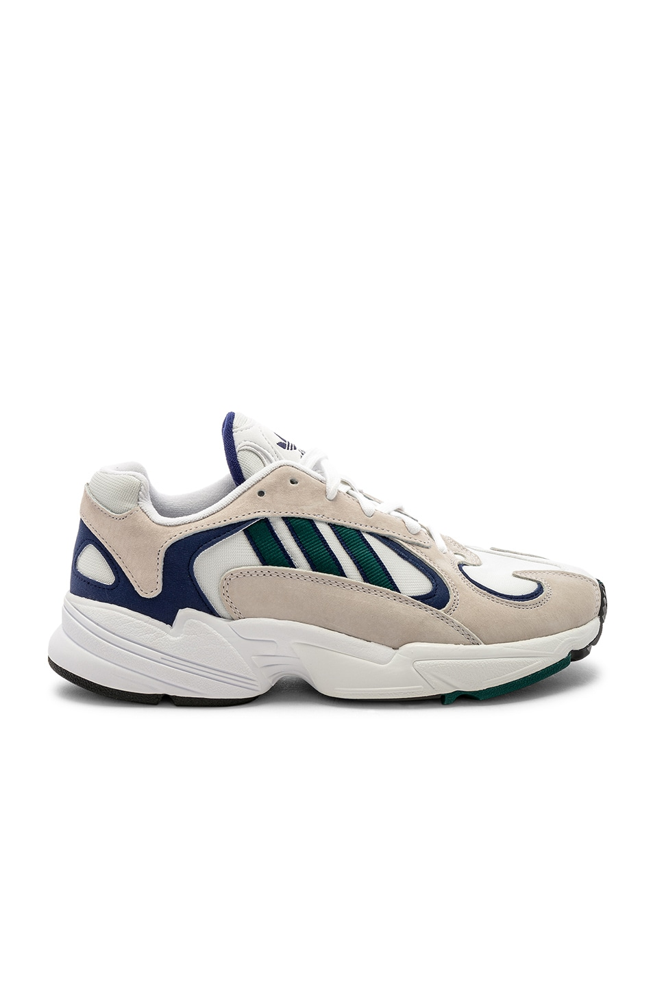 Image 1 of adidas Originals Yung-1 in White & Noble Green & Dark Blue