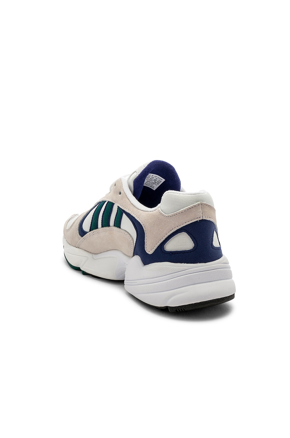 Image 3 of adidas Originals Yung-1 in White & Noble Green & Dark Blue