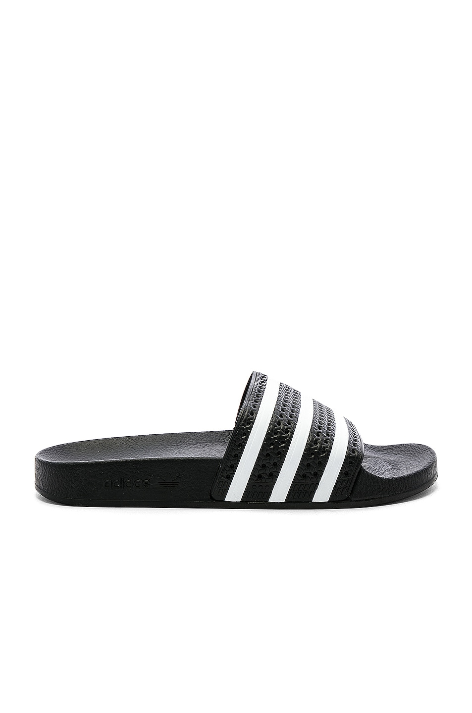 Image 1 of adidas Originals Adilette in Black & White & Black