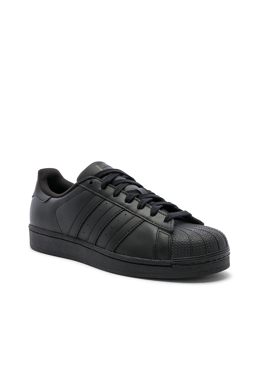 Image 2 of adidas Originals Superstar Foundation in Black & Black & Black