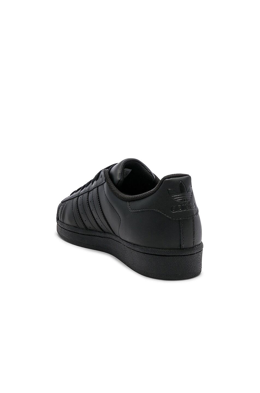 Image 3 of adidas Originals Superstar Foundation in Black & Black & Black