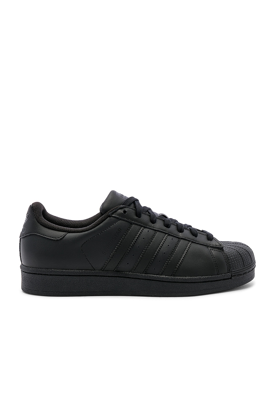 Image 1 of adidas Originals Superstar Foundation in Black & Black & Black