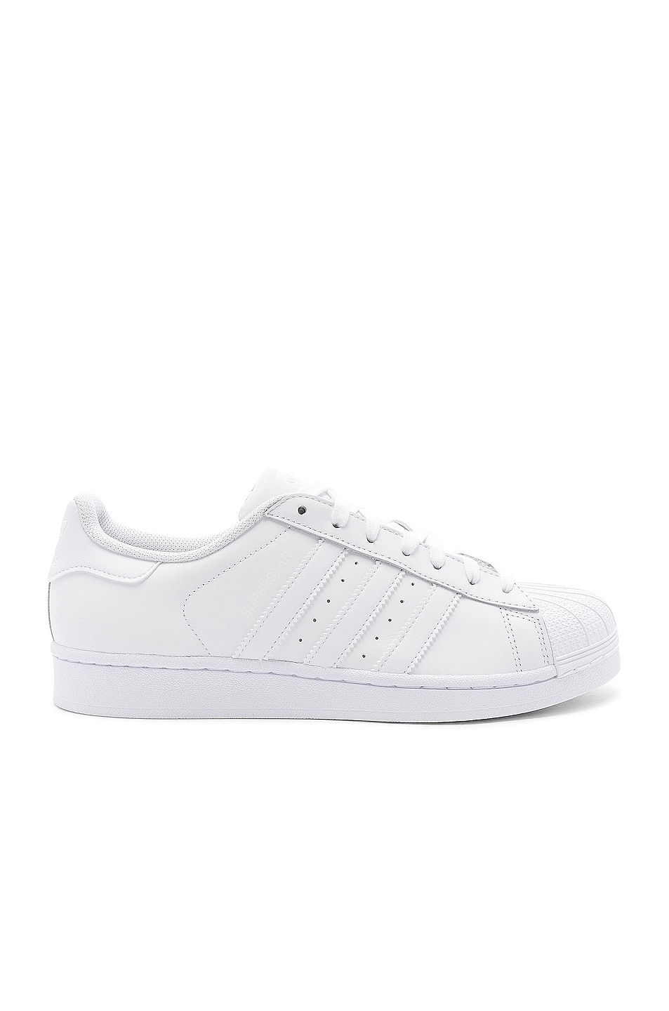 Image 1 of adidas Originals Superstar Foundation in White & White & White